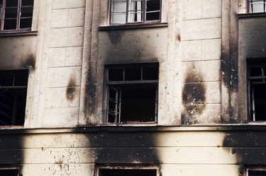 burned barracks