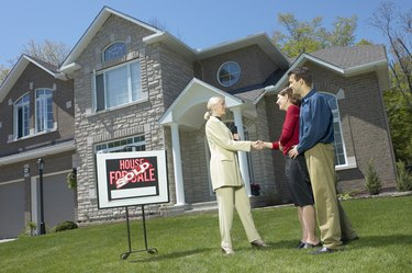 Couple purchasing a home