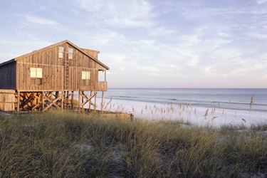Beach house by ocean, Emerald Coast, FL, USA