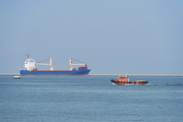 ship leaving the harbors