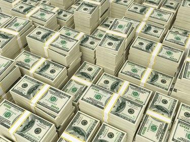 Money Pile $100 dollar bills