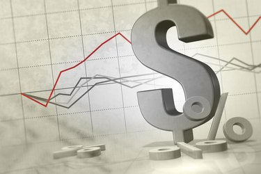 Dollar sign with line graph