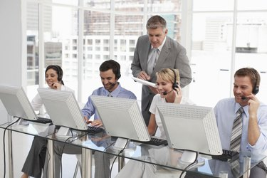 People working with computers