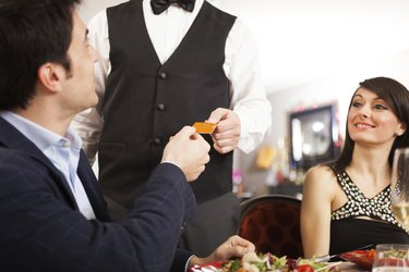 Man paying dinner
