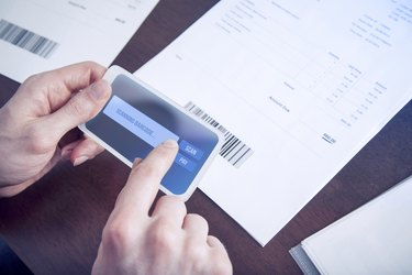 Mobile payment paying bills with phone