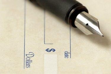 Fountain pen over check