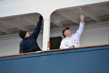 Royal Yacht Britannia's Yotties Prepare For Diamond Jubilee Celebrations