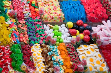 multocolored sweet candy
