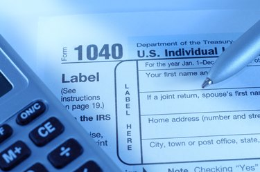 Individual tax return form