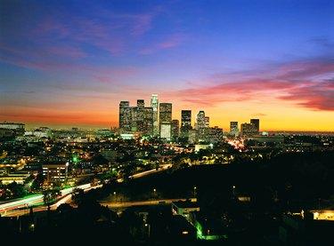 Los Angeles skyline, California, USA