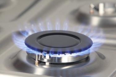 Blue gas flame