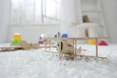 Wooden toy plane