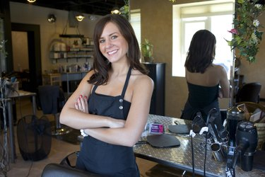 Beauty salon employee
