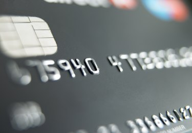 Close-up of credit card