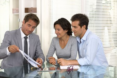 Financial consultant presenting business investment