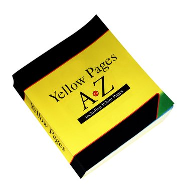 Yellow pages phone directory