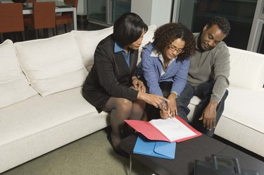 Financial advisor meeting with couple