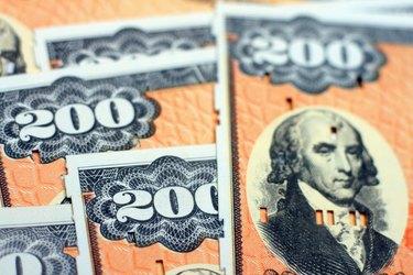 U.S. Treasury (EE Savings) Bonds - Closeup Photo