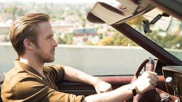 La La Land Sebastian in his car