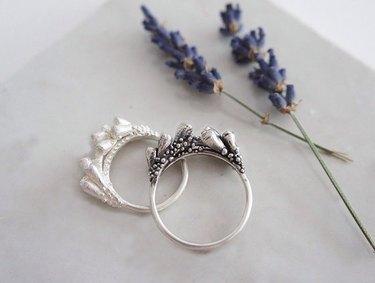 Gemagenta — Lavender Branches Silver Ring