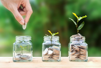 Money savings, investment, making money for future, financial wealth management concept.