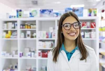 Pharmacist working at the drugstore