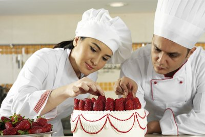 Two Pastry Chefs Complete the Strawberry Cake