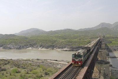 Train Over Attock Bridge , River Indus