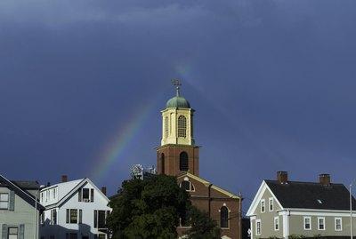 Rainbow over Portsmouth, New Hampshire