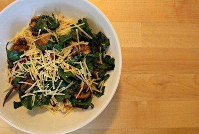 Parmesan & Mushroom Oatmeal