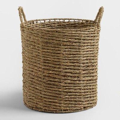 Trista Seagrass Tote Basket