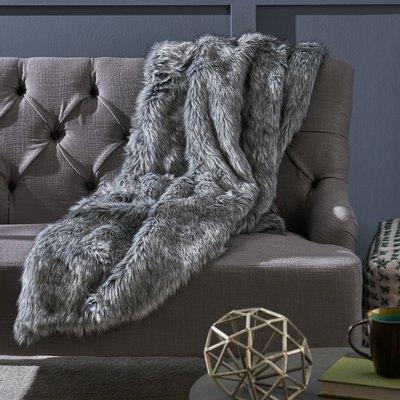 Warrin Faux Fur Throw Blanket