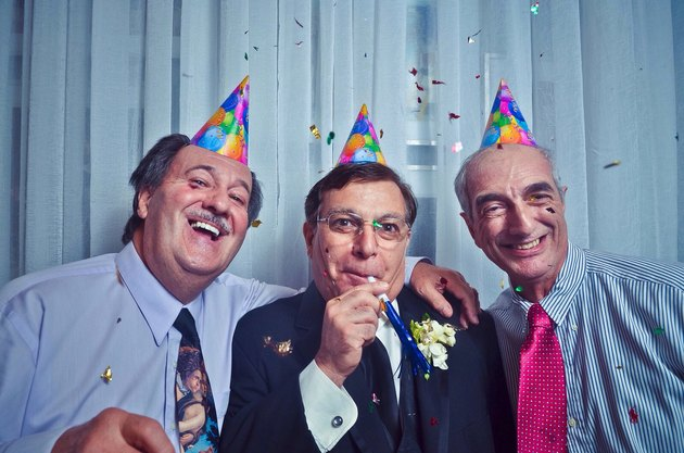Photographer's caption: Old Italian guys being happy