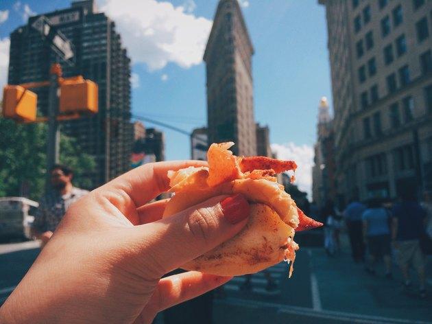 Lobster roll at Flatiron Building in Manhattan
