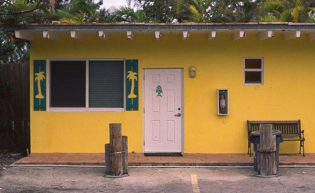 Yellow motel room in the Florida Keys