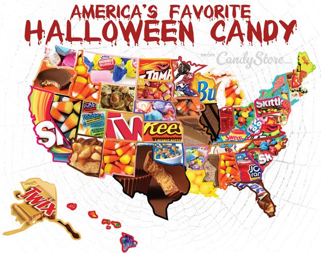 America's favorite Halloween candy map