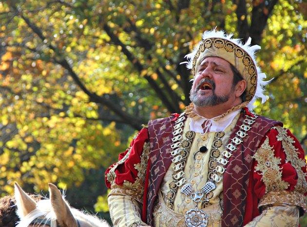 Renaissance faire performer as King Henry