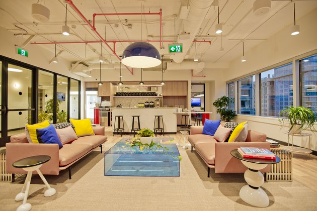 Interior of WeWork Vancouver space
