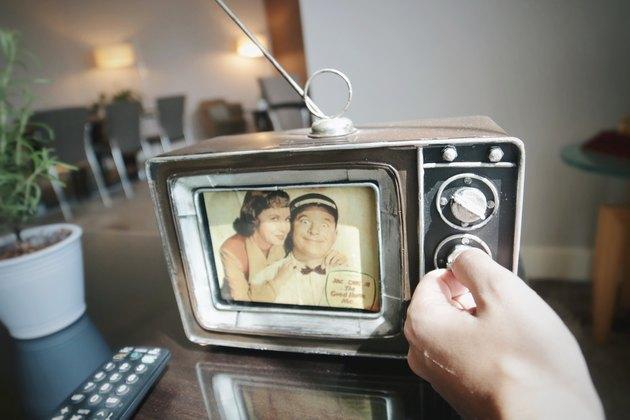 Retro TV picture frame