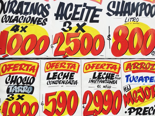 Sale signs in Santiago Chile