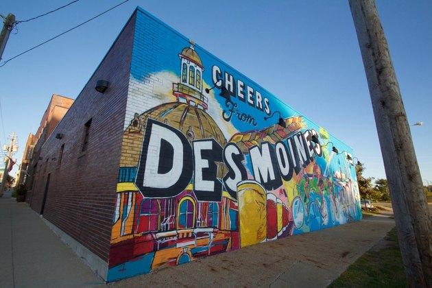 Mural celebrating Des Moines, Iowa