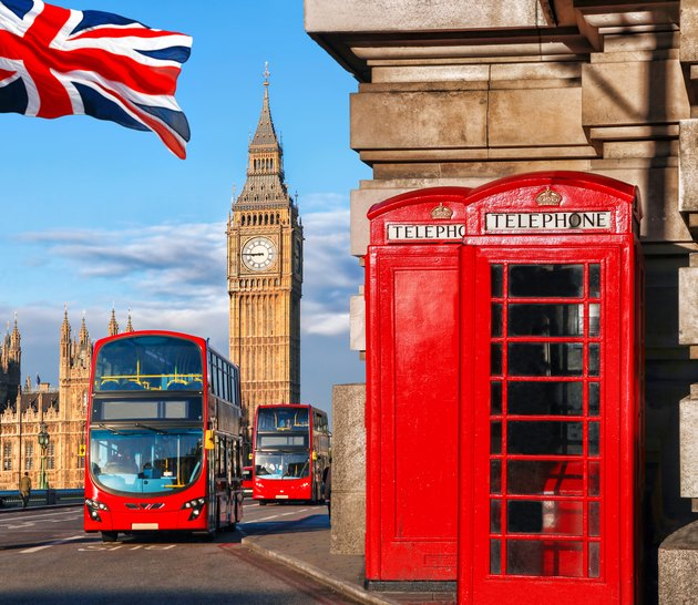 London symbols with Big Ben in England, UK