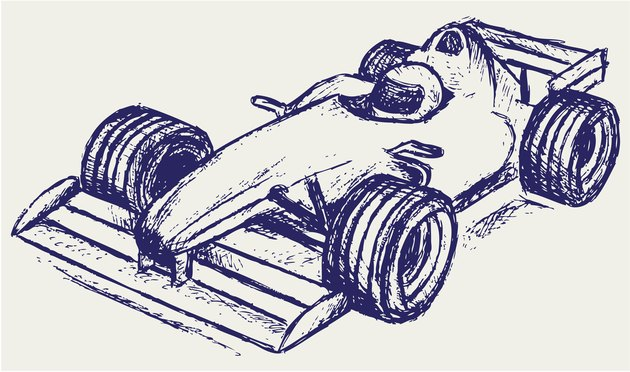 Illustration of a Formula 1 race car