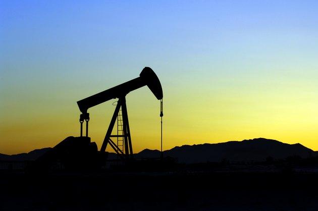Oil Pumper at sunset