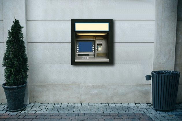Modern street ATM machine for withdrawal of money and other financial transactions