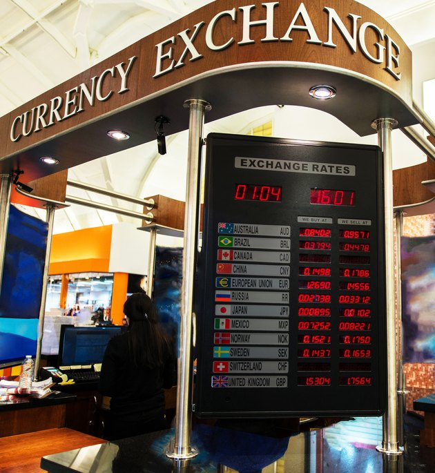 Currency Exchange Booth