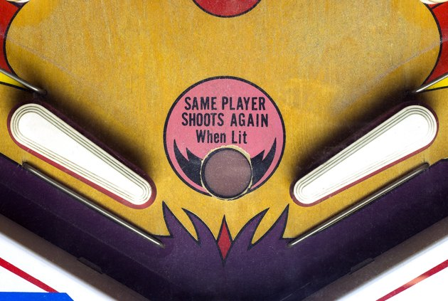 Flippers of a vintage pinball table