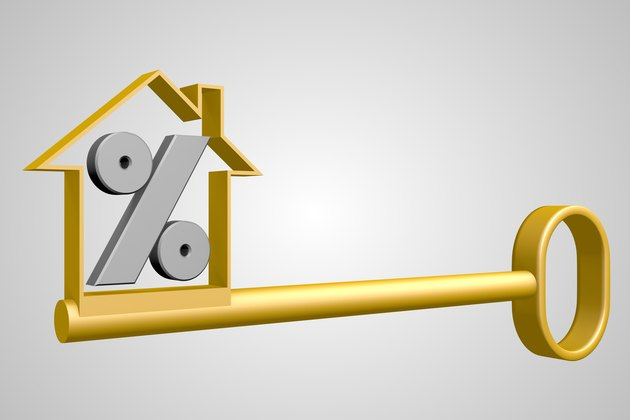 What Is a Good Loan to Value Ratio?         3D house / key / percent concept
