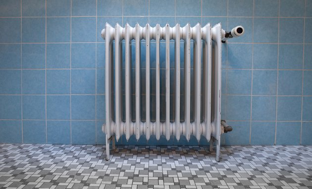Old fashioned heat radiator