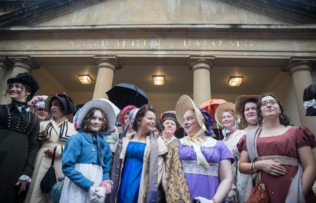 The Jane Austen Festival Opens With A Regency Costumed Promenade